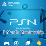 PSN 3 Month Membership
