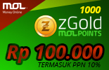 1000 zGold MOLPoints