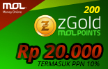 200 zGold MOLPoints