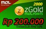 2000 zGold MOLPoints